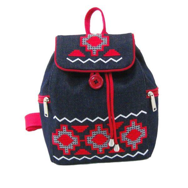 рюкзак маленький з червоною доріжкою