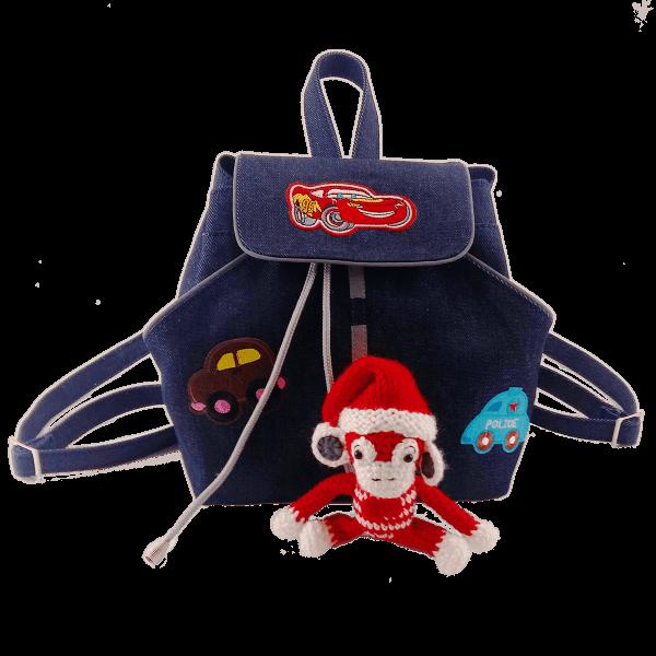 детский джинсовый рюкзак