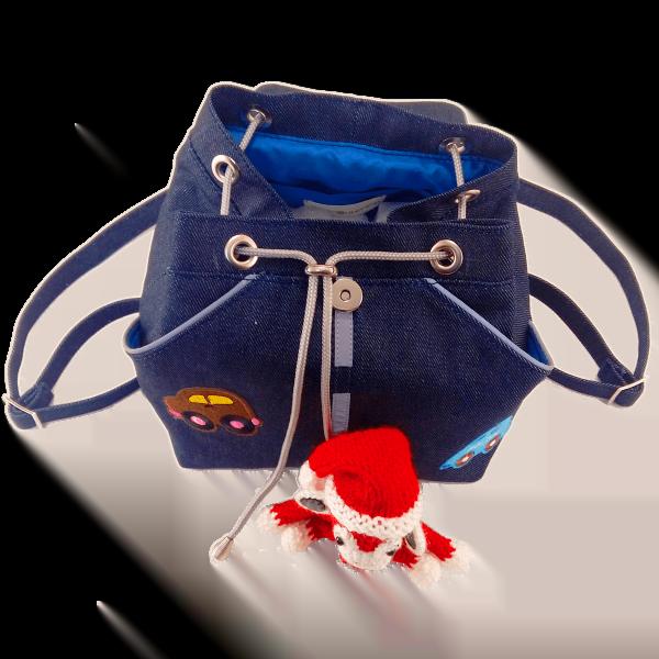 дитячий джинсовий рюкзак