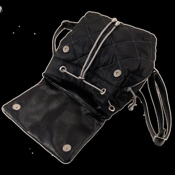рюкзак чорний стьобаний