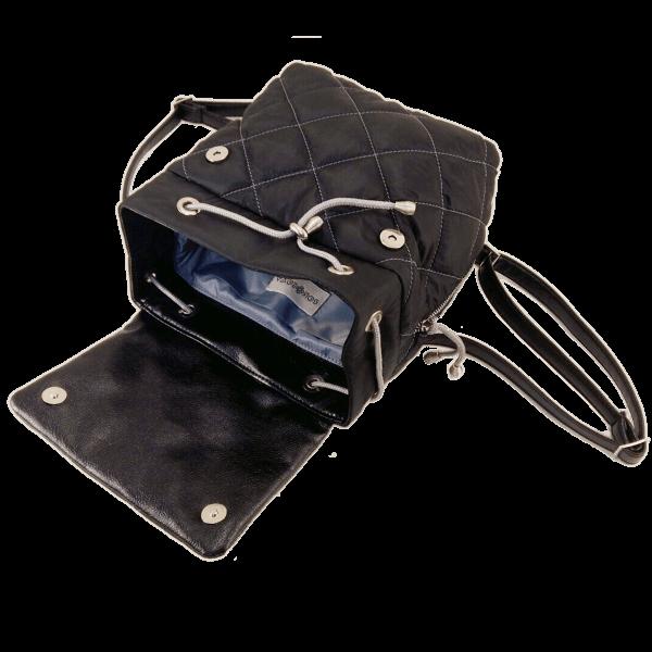 рюкзак стеганый черний