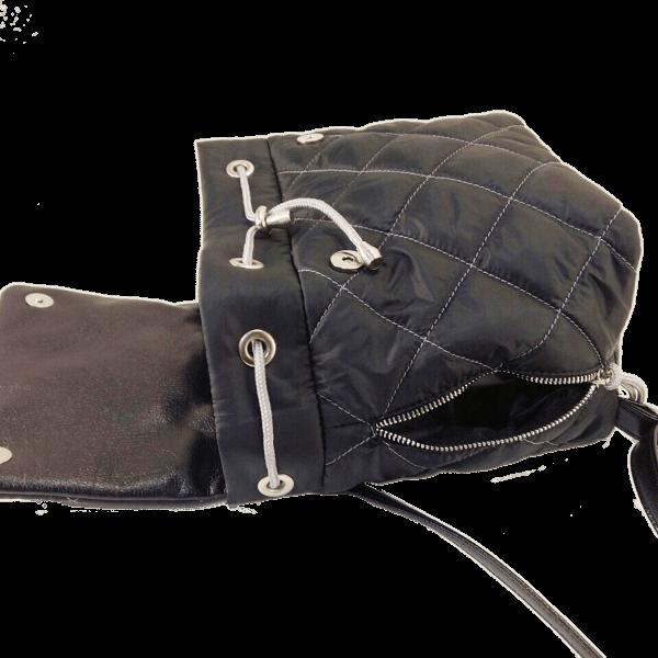 рюкзак стьобаний чорний