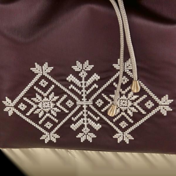рюкзак з еко шкіри житомирська вишивка