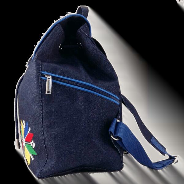 джинсовий рюкзак з вишивкою