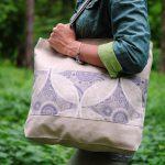 Еко-сумка (шоппер) біло-блакитна