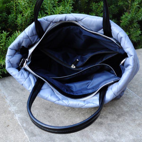 Середня стьобана сумка сіра 12401