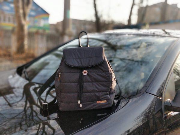 15004 Рюкзак чорний великий