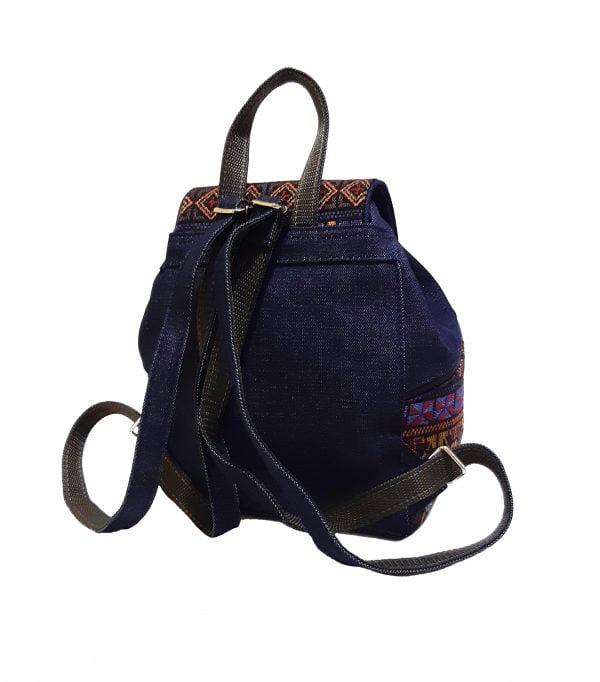 15007-3 Рюкзак джинс та гобелен середній
