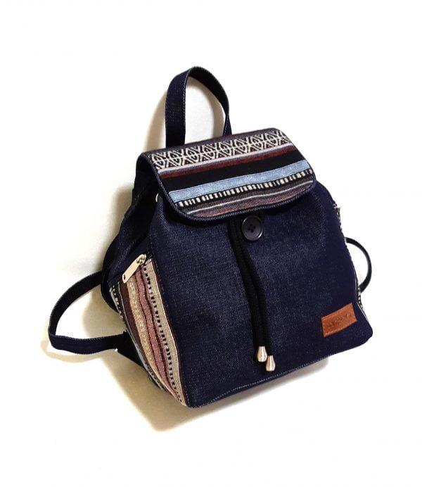 Джинсовий рюкзак з гобеленом (15007-8)
