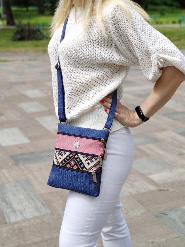 Міні сумка 4 кишені (з орнаментом) (23000)