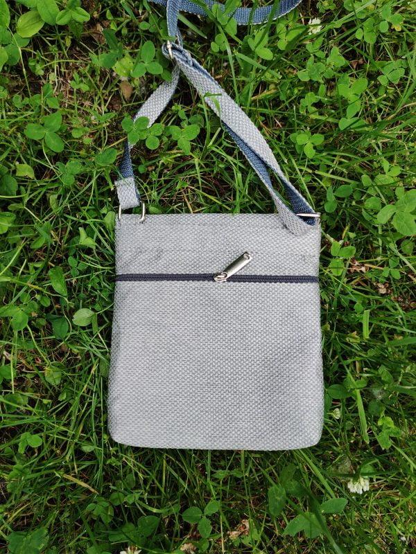 Міні сумка 4 кишені (сіра, рожева, бузкова) (23003)