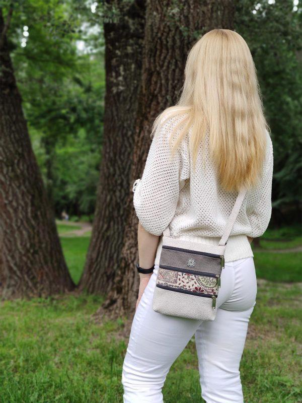 Міні сумка 4 кишені (світла) (23005)