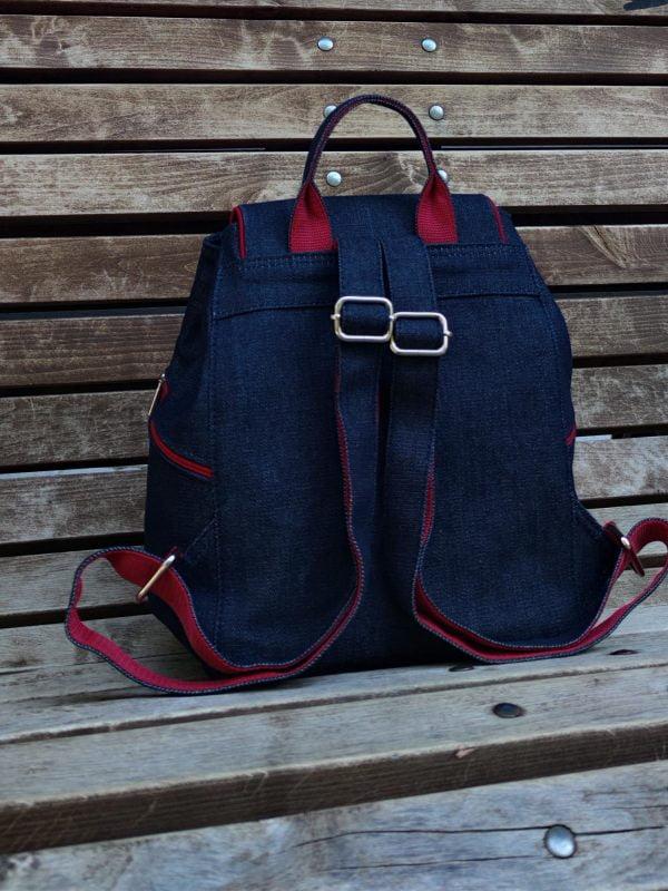 Джинсовий рюкзак з вишивкою Закарпаття (18010)