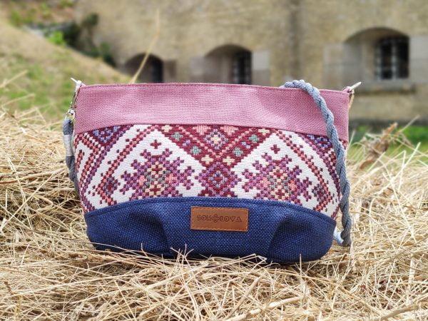 19103 Маленька рожева сумочка з орнаментом