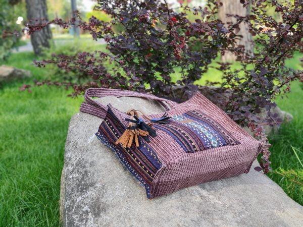 26000 Велика вельветова сумка з гобеленовим декором
