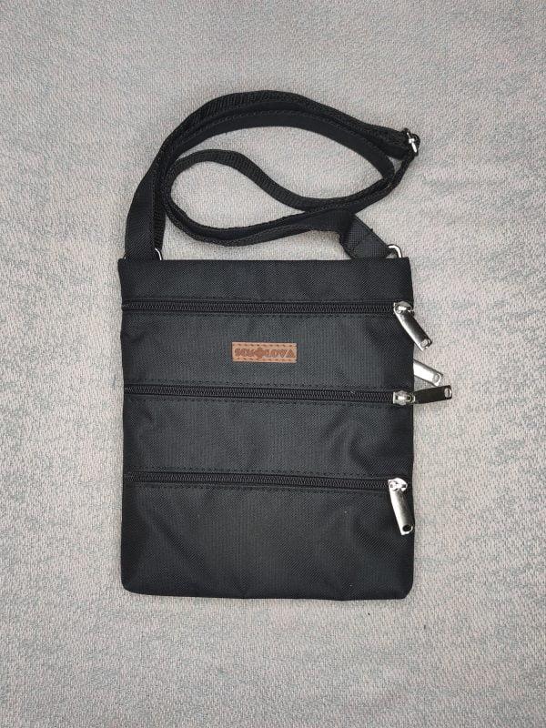 23010 Міні сумка 4 кишені (чорна)