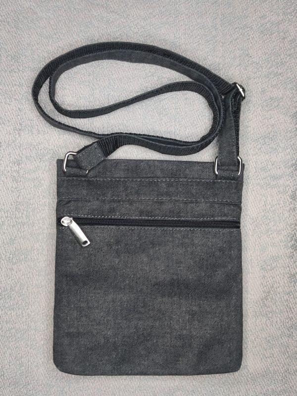 23016 Міні сумка 4 кишені (темно сіра)