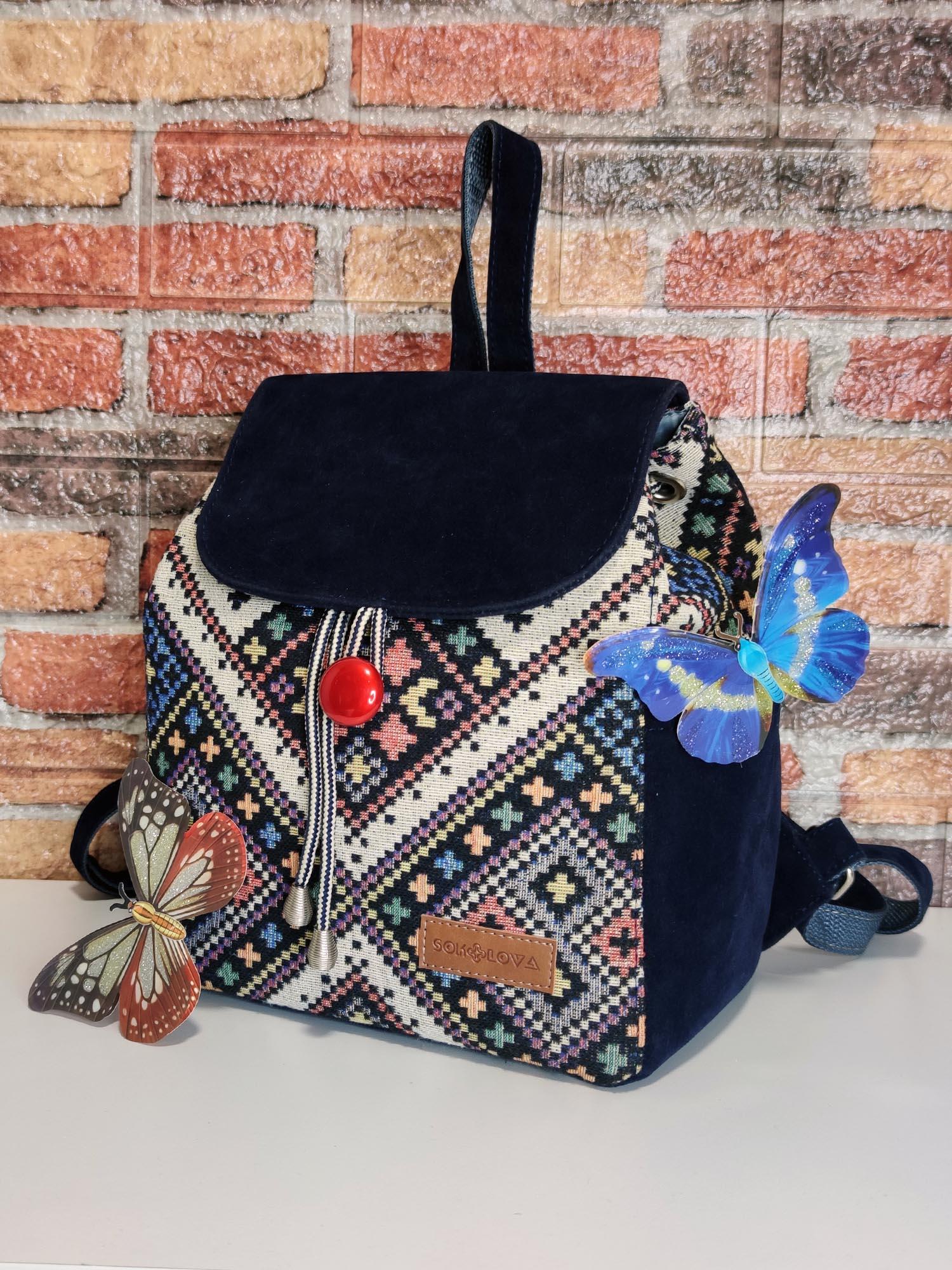 Рюкзак середній в етностилі (15040)