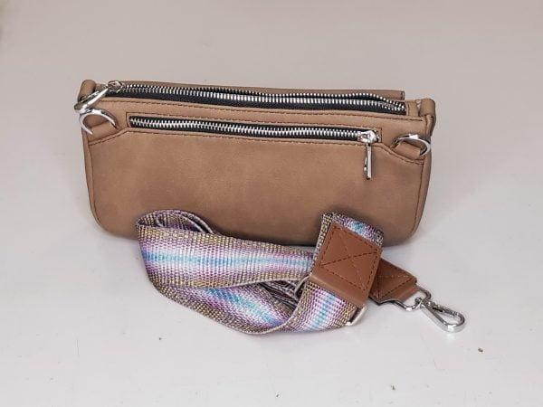 Поясна сумка коричневого кольору (20003)