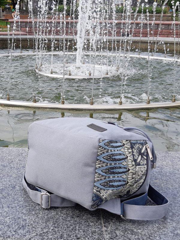 """Рюкзак середній колір сірий з декором """"Туніс"""" (15038)"""